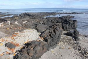 Volcanic rock and beach